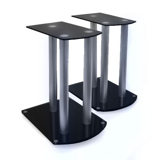 Paar Boxenständer Stativ Lautsprecher Podest schwarz