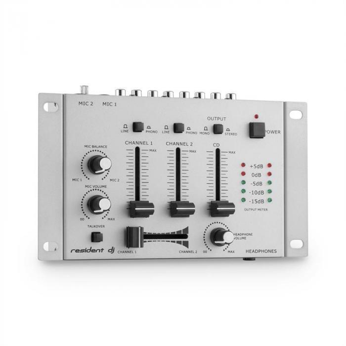TMX-2211 Mixer Mischpult 3/2-Kanal silber