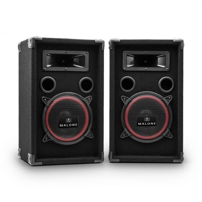"""PA-220-P passives Lautsprecher-Paar 20cm (8"""") 2x200W RMS / 2x500Wmax."""