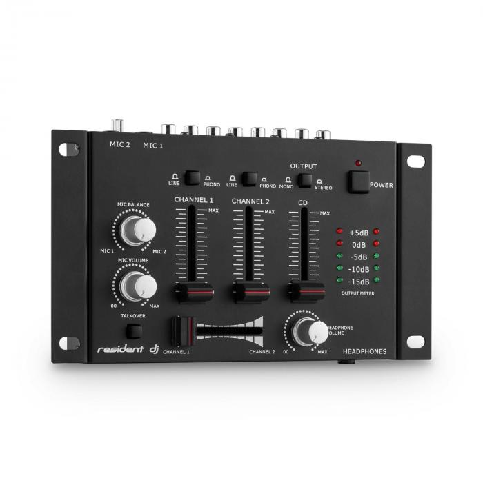 TMX-2211 3/2-Kanal DJ Mixer Mischpult Talkover Party