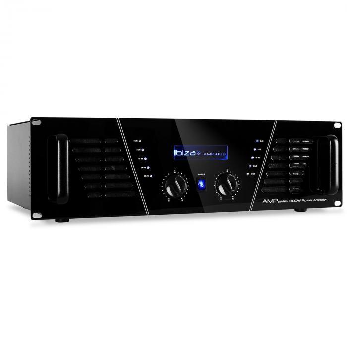 AMP-800 DJ PA Endstufe Verstärker 1200W MOSFET