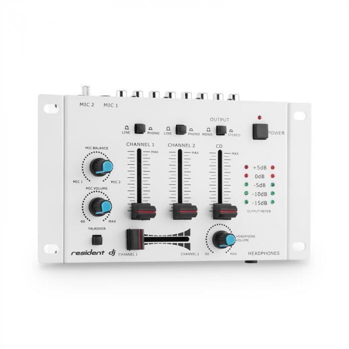TMX-2211 3/2-Kanal-DJ-Mischpult weiß