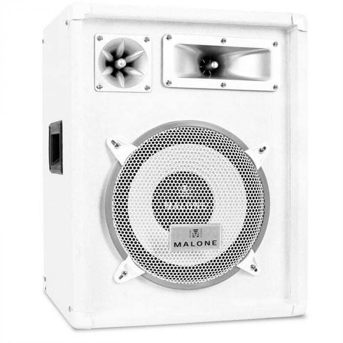 PW 1022 PA-Box 25cm Lautsprecher 400Wmax. weiß