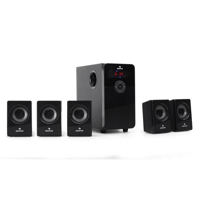 HF583 5.1-Lautsprecherset USB-SD-MP3 UKW Radio 70W RMS inkl. Fernbedienung