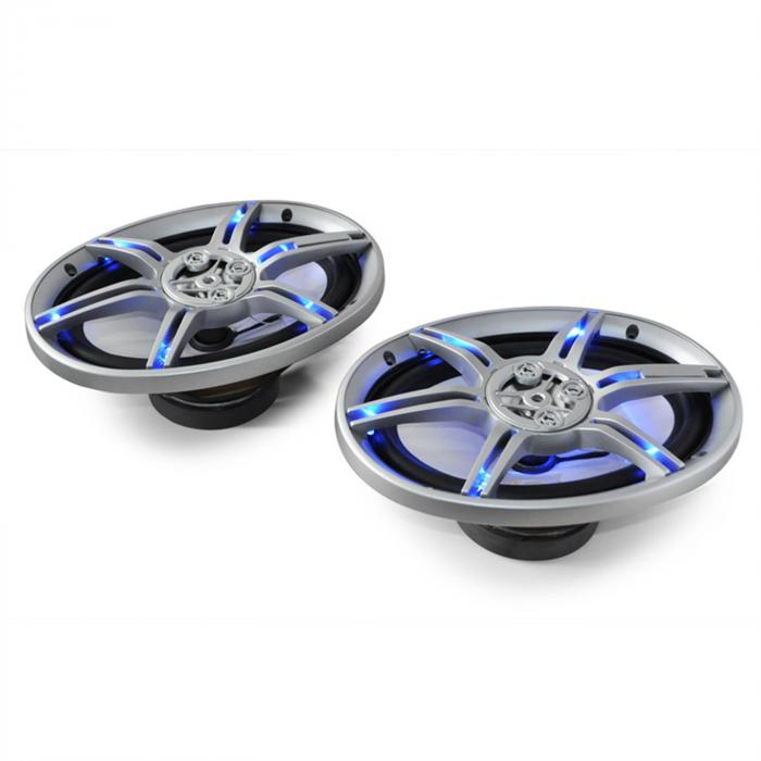 CS-LED69 15x23cm-Auto-Lautsprecher 2x500W max. LED-Lichteffekt