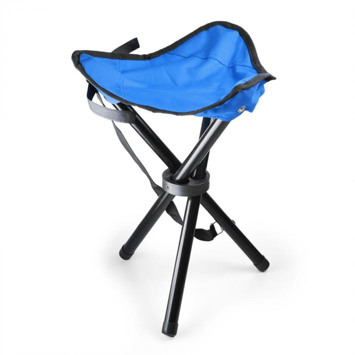 KT-Trestle mobiler Campingstuhl Angelsitz blau schwarz 500g
