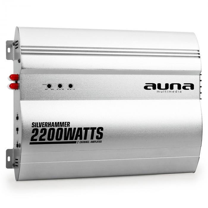 Silverhammer 2-Kanal Auto Endstufe 2200W