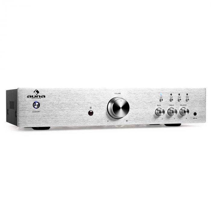 AV2-CD508 HiFi-Verstärker Stereo Edelstahl 600W max. Fernbedienung silber