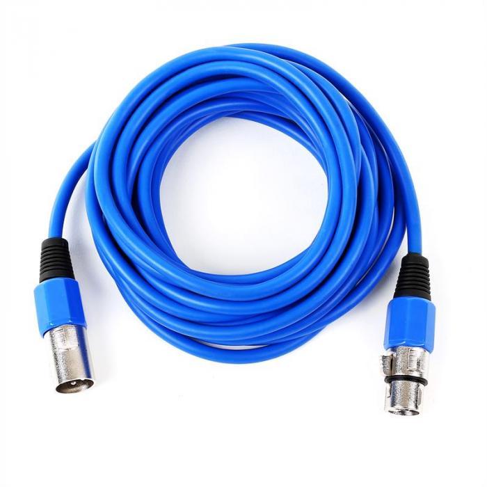 XLR-Kabel 6m blau männlich zu weiblich