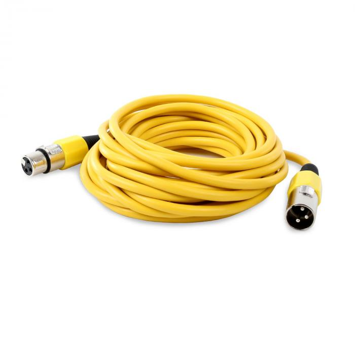 XLR-Kabel 6m gelb männlich zu weiblich