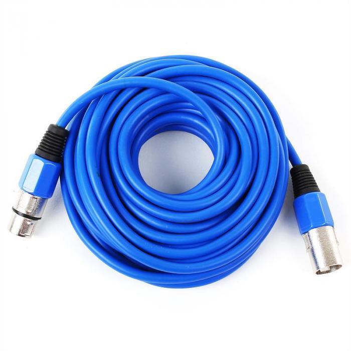 XLR-Kabel 10m blau männlich zu weiblich