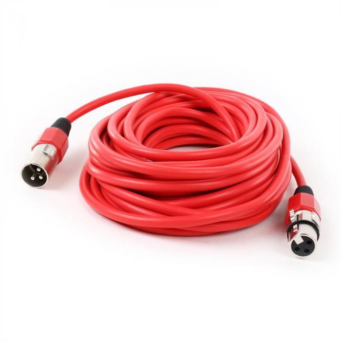 XLR-Kabel 10m rot männlich zu weiblich