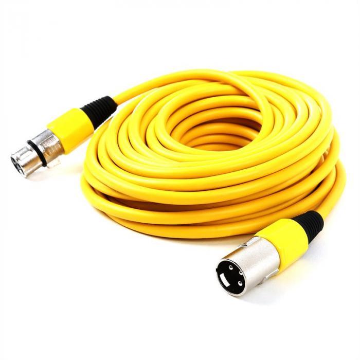 XLR-Kabel 10m gelb männlich zu weiblich