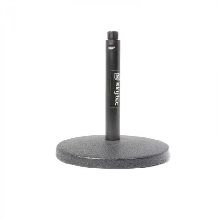 Skytec Mikrofon Tischstativ Gusseiserner Sockel 15cm Höhe schwarz