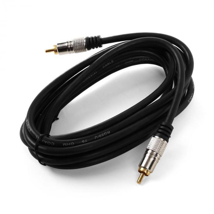 Koaxial-Kabel 3m digital Cinch 75Ohm