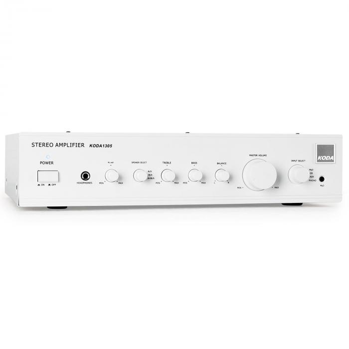1305 HiFi Stereo-Verstärker 2 x 140W RMS Weiß AUX