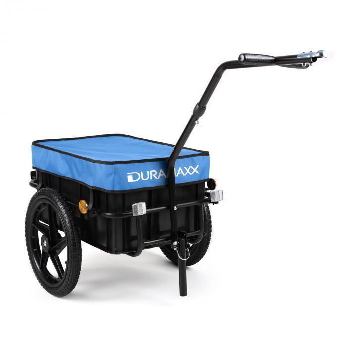 Big Blue Mike Fahrradanhänger Lasten Hochdeichsel 70L blau