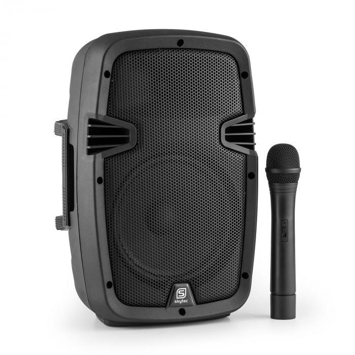 "SPJ-PA908PA-Lautsprecher 20cm (8"") Akku Bluetooth USB SD MP3 350W"