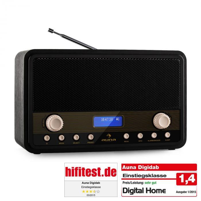 Digidab Retro DAB-Digitalradio UKW PLL Dual-Ala...