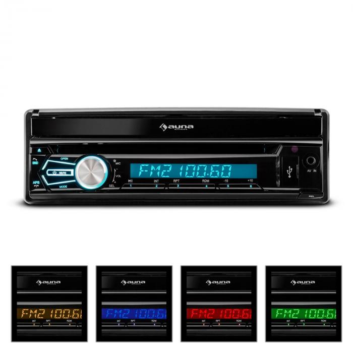 "MVD-320 Autoradio 17,8cm (7"")-Touchscreen Bluetooth DVD USB SD UKW"