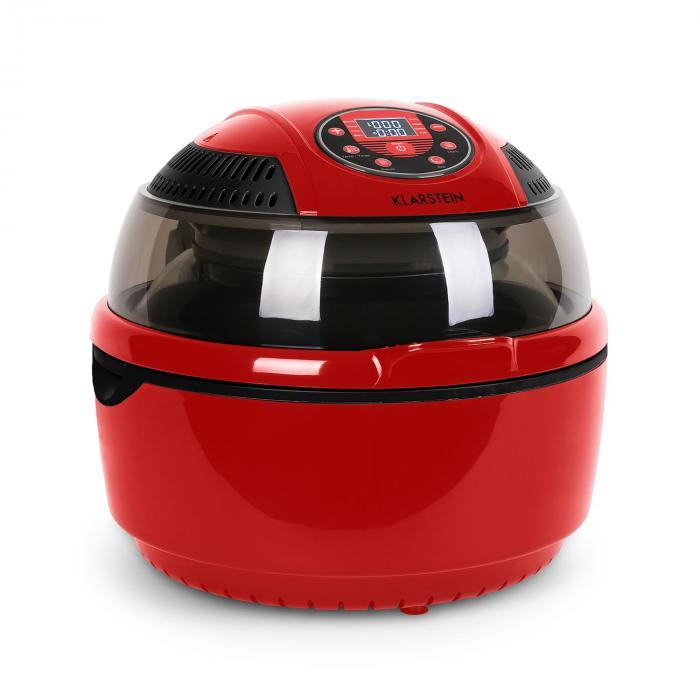 VitAir Heißluftfritteuse 1400W Grillen Backen 9 Liter rot
