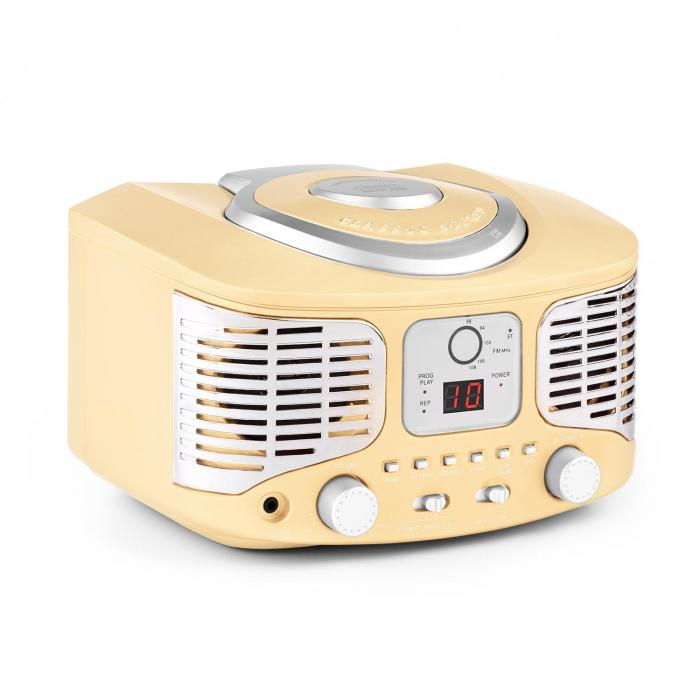 RCD320 Retro-CD-Player UKW AUX creme
