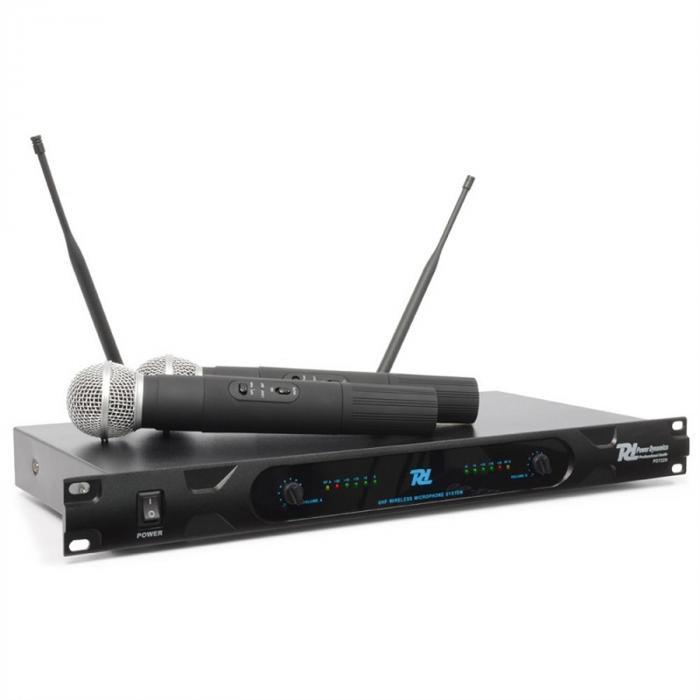PD722H 2-Kanal-UHF-Funkmikrofonsystem 2 x Funk-Handmikrofon