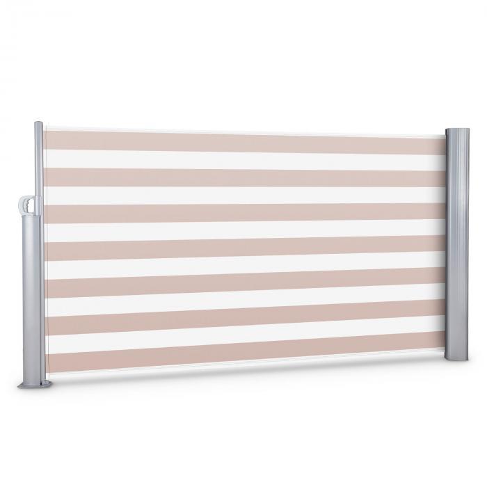 Bari 316 Seitenmarkise Seitenrollo 300x160cm Aluminium creme/weiß