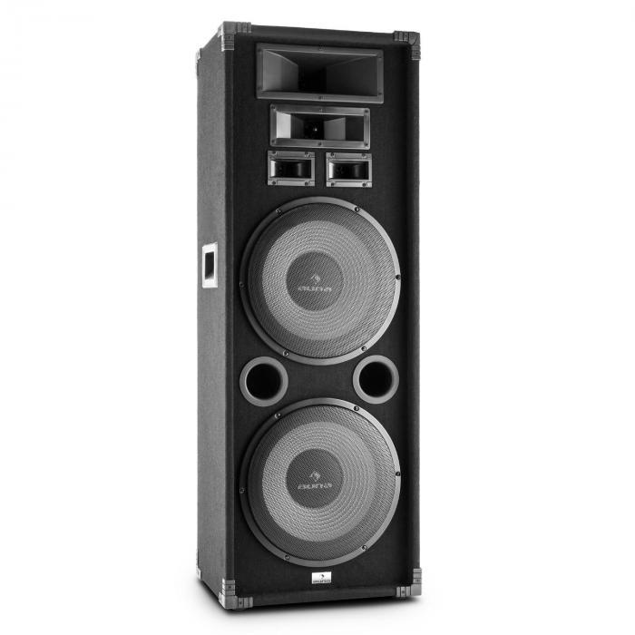 "PA-2200 Fullrange PA-Lautsprecher 2x12"" Tieftöner 1000W max."