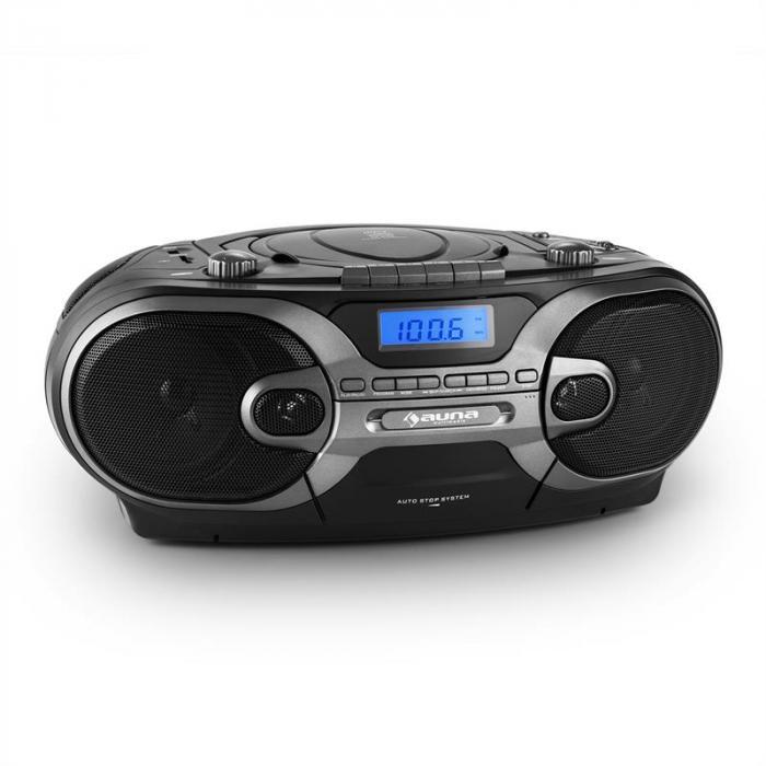 elektronik star de rcd 230 tragbares stereo cd radio usb sd mp3 kassette ukw mw schwarz. Black Bedroom Furniture Sets. Home Design Ideas