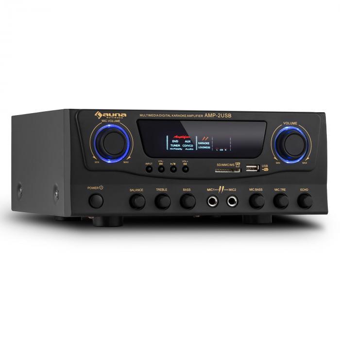 Amp-2 HiFi-Karaoke-Verstärker 100W max. USB SD MP3