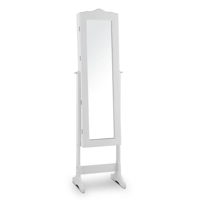 Gracia Schmuckschrank Schmuckspiegel LED schwenkbar weiß