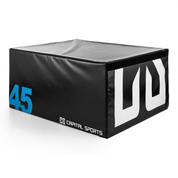 Rookso Soft Jump Box Plyo Box 90x45x75 cm schwarz