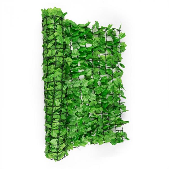 Fency Bright Ivy Sichtschutzzaun Windschutz 300x150 cm Efeu hellgrün