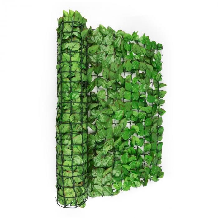 Fency Bright Leaf Sichtschutzzaun Windschutz 300x100 cm Buche hellgrün