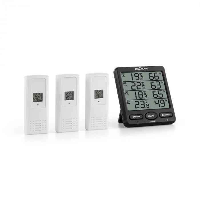 Launburg Funk-Wetterstation Alarm Batterie 3 x ...