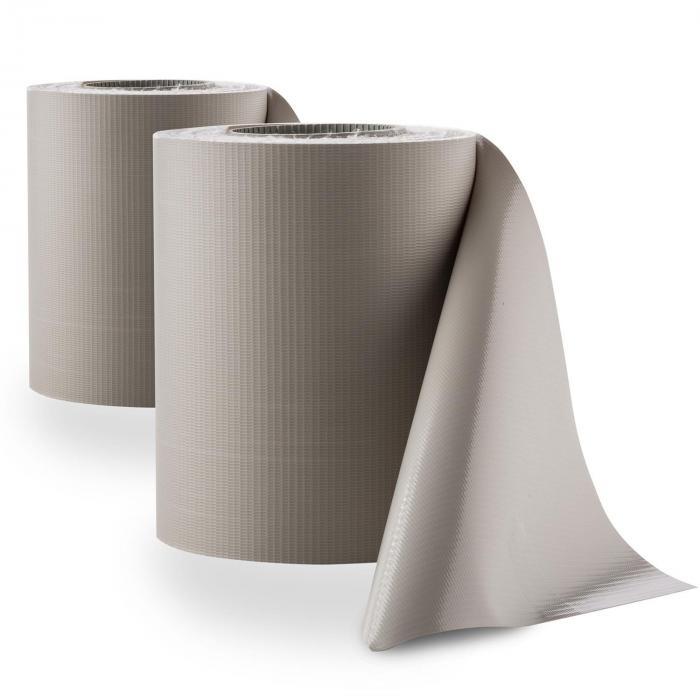 Pureview Sichtschutz PVC 2 Rollen 35m x 19cm 60 Klemmschienen hellgrau