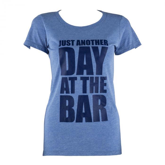 Trainings-T-Shirt für Frauen Size L Blau Tricolor