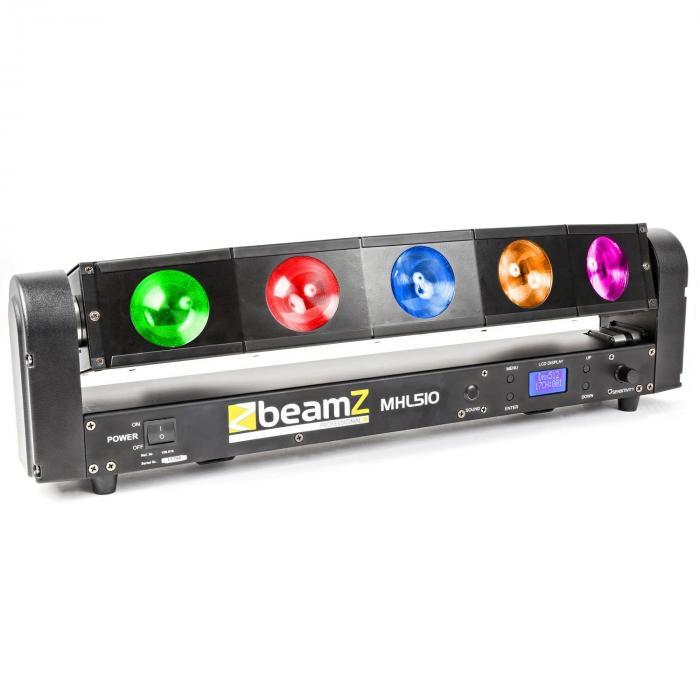 MHL510 Lichteffektgerät Color Sweeper 5 x 10W Quad Cree LED
