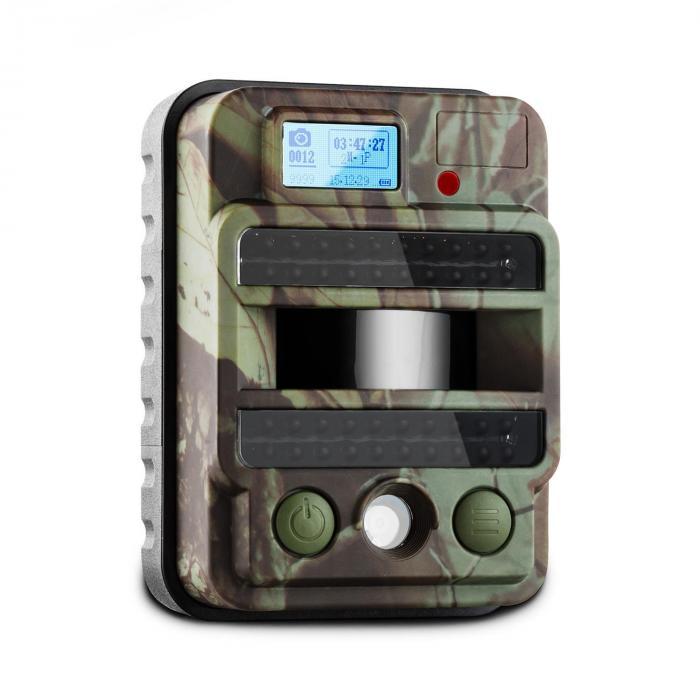 GRIZZLY MAX PIR Wildkamera Fotofalle 40 Black LEDs 8 MP HD USB SD 100°