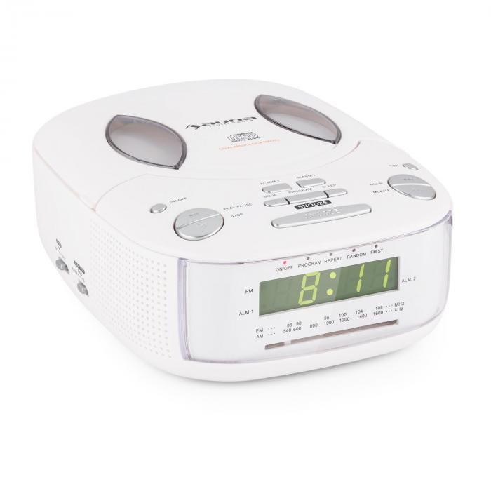 Dreamee SL Radiowecker mit CD-Player UKW/MW AUX...
