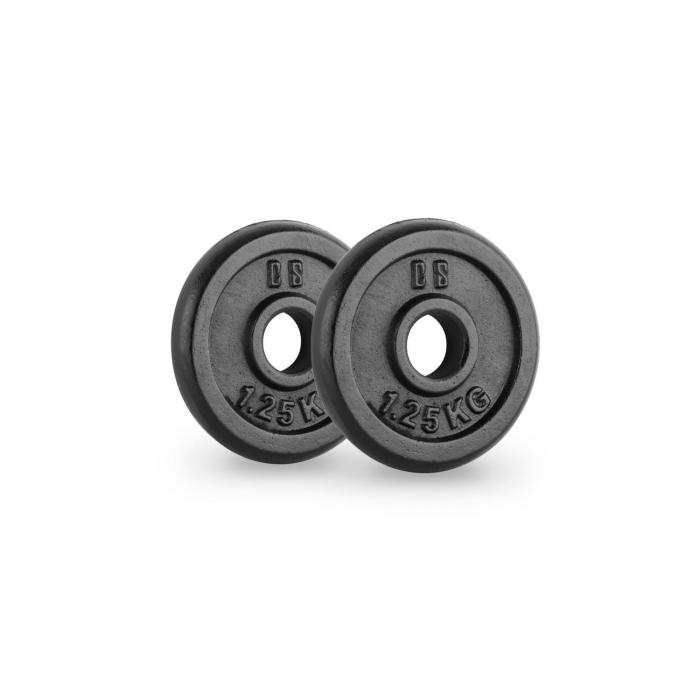 IPB 1.25 Hantelscheiben Paar 30 mm 1,25 kg schwarz