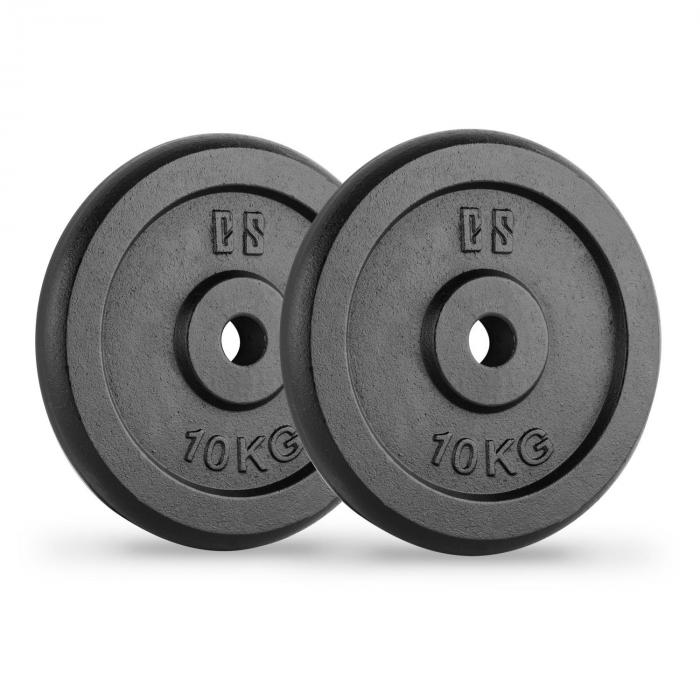 IPB 10 Hantelscheiben Paar 30 mm 10 kg schwarz