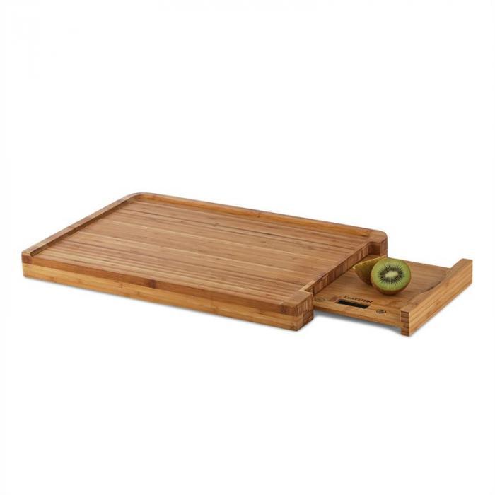 Chopmaster Schneidbrett & Küchenwaage 5 kg Bambus