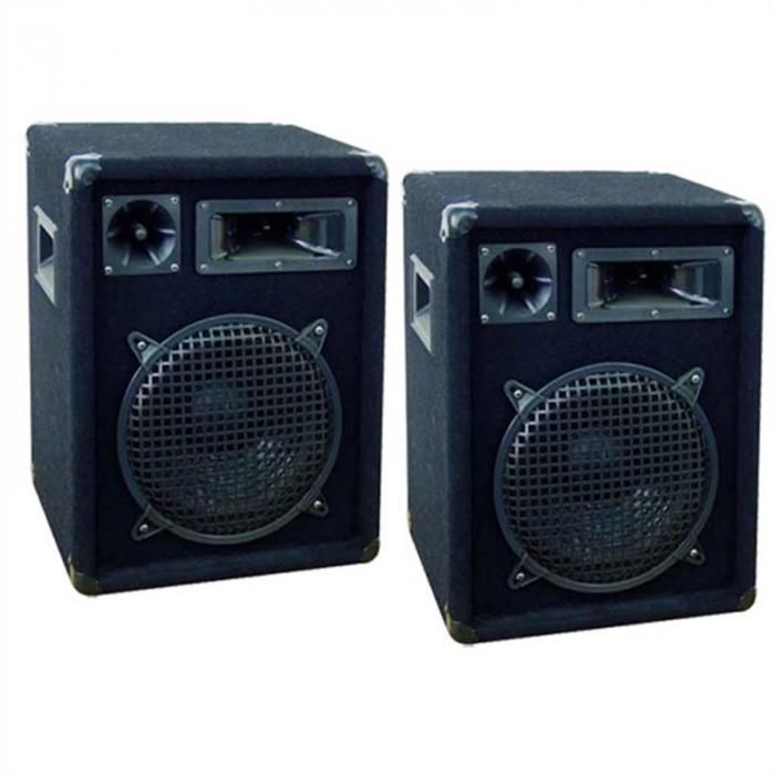 DX 1022 Paar PA Boxen 800 Watt Stativaufbau