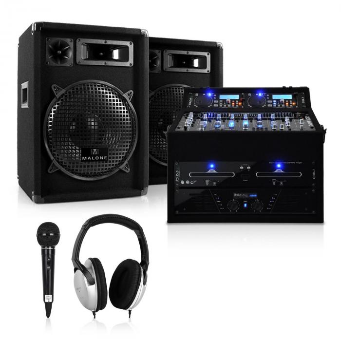 DJ PA Set Rack Star Jupiter Shock 800W Rackcase Anlage