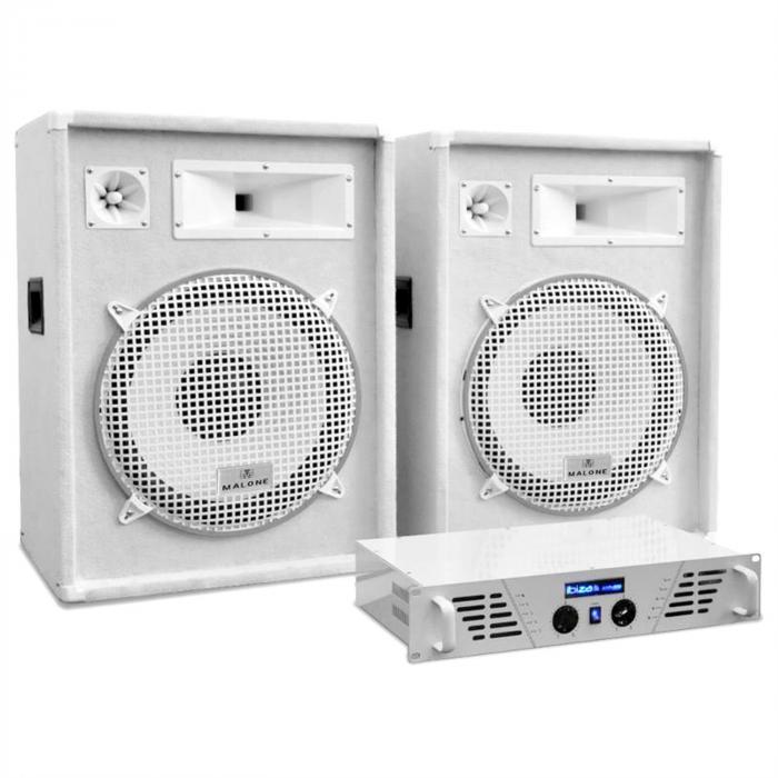 "DJ/PA Set White Star Series ""Arctic Frost"" 1600W"