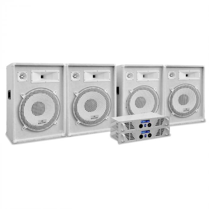 "PA Set White Star Series ""Arctic Frost Pro"" 4x 320W Soundanlage"