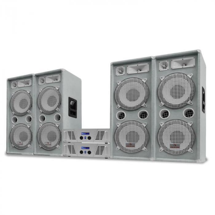 "DJ PA Set White Star Series ""Arctic Ice Pro"" 4000W"