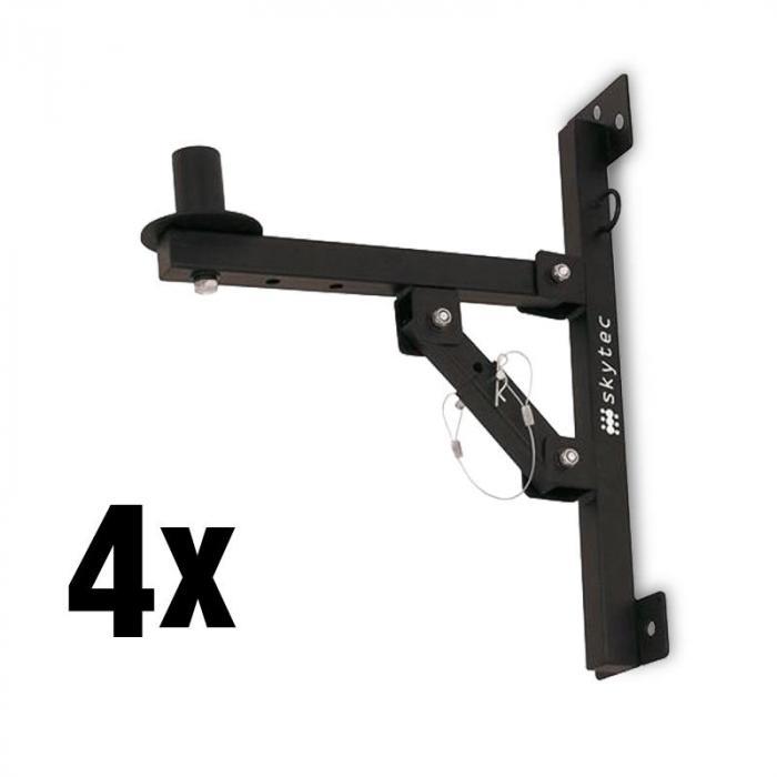 SKY-180 4 x PA-Lautsprecher-Wandhalterung Stativ schwarz <50kg